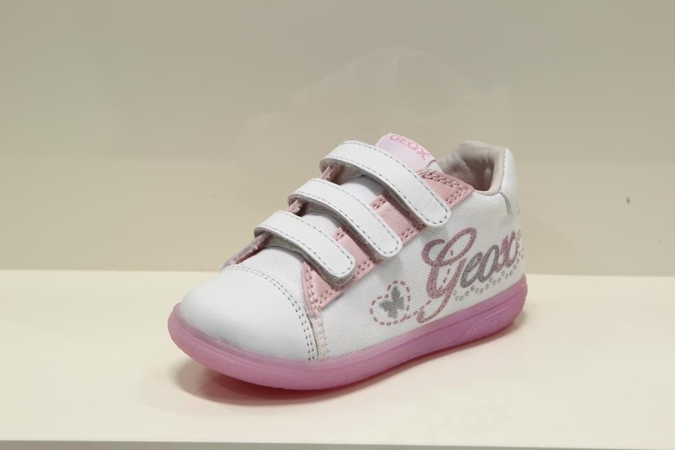 16538a9aedc4e Dievčenské bielo ružové tenisky Geox - MojaObuv