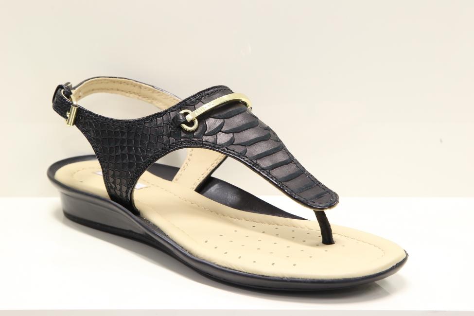 193d5ffcb6b0 Moderné dámske čierne kožene sandále Geox - MojaObuv