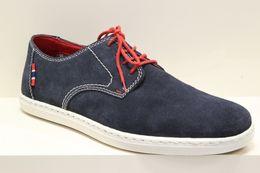Pánske športové tmavo modré topánky z brúsenej kože 0a58e3def90